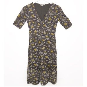 Boden Jersey Floral Tea Length Dress | US Size 4L